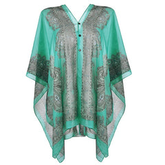 Women's V-Neck Floral Print Beach Cover Up