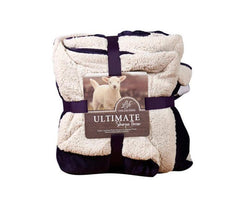 Sherpa Poly Wool Throw Blanket