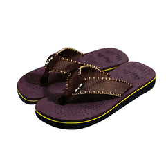 Striped Sole Fabric Strap Flip-Flops for Home, Beach