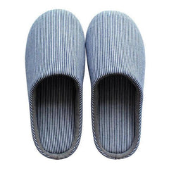 Men's Pin-Striped Cotton Slippers