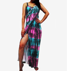 Long Dress Multicolor Plus Size Beach Wrap