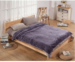 Waffle Pattern Flannel Microfiber Bed Cover or Throw