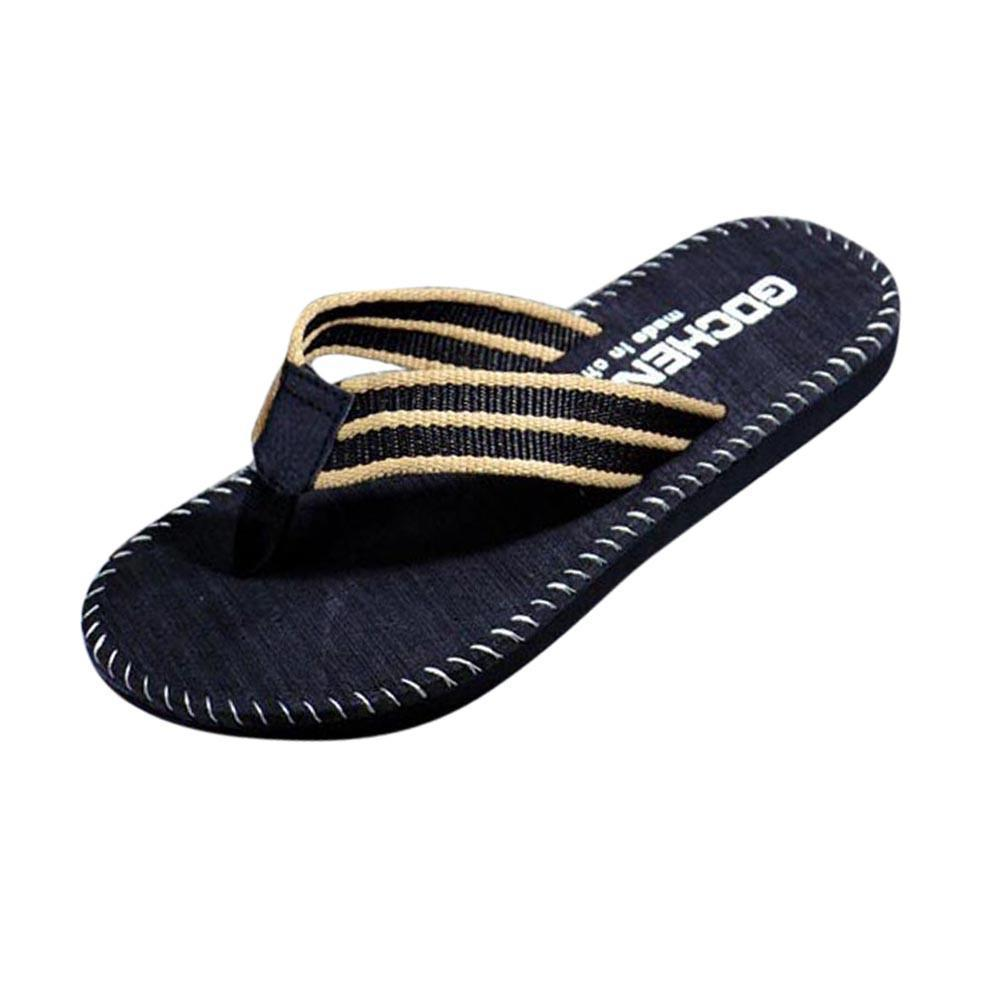 Men's Stitched Border Beach Sandals
