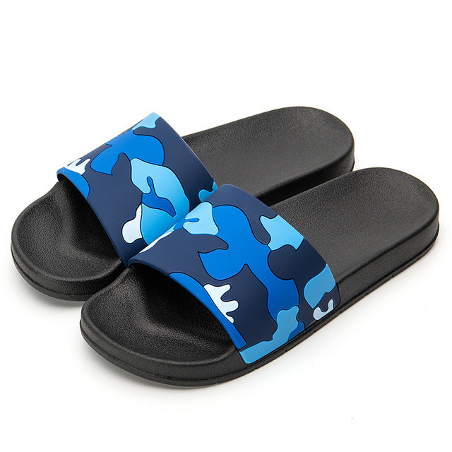 Men's Camo Pattern Contour Non-Slip Sandals