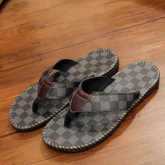 Checkerboard Pattern Leisure Flip Flop Sandals