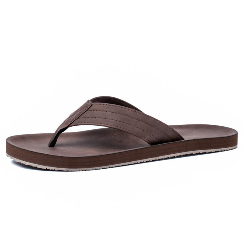 Leather Strap Rubber Sole Beach Sandals