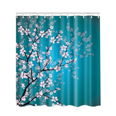 Cherry Blossoms & Jungle Leaves Shower Curtains