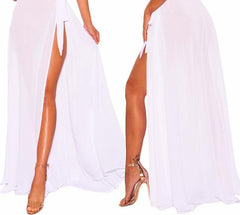 Women's Sheer Tie-up Skirt Beach Cover Up