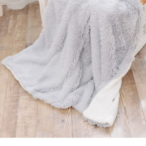 Faux Fur Reversible Throw Blanket