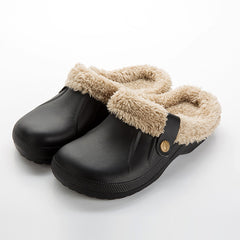 Winter Clogs With Fur Fleece Lining