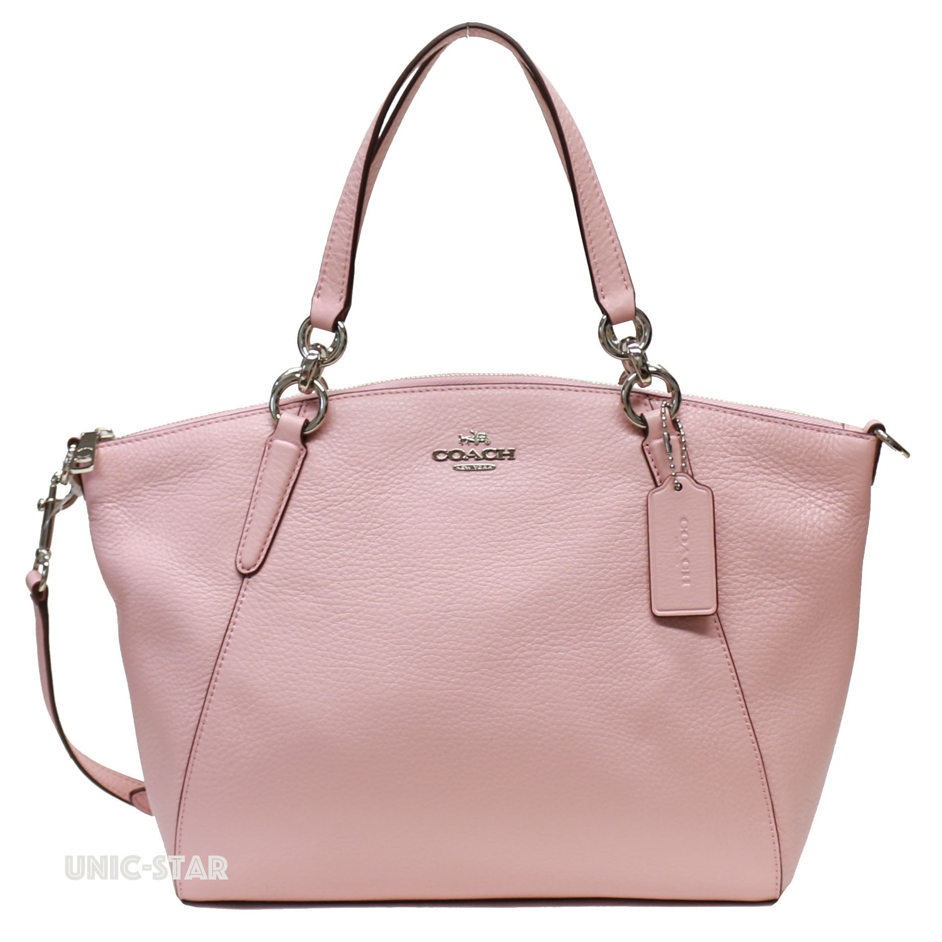 Coach F26917 Pebble Leather Small Kelsey Blush 2 Unic Star