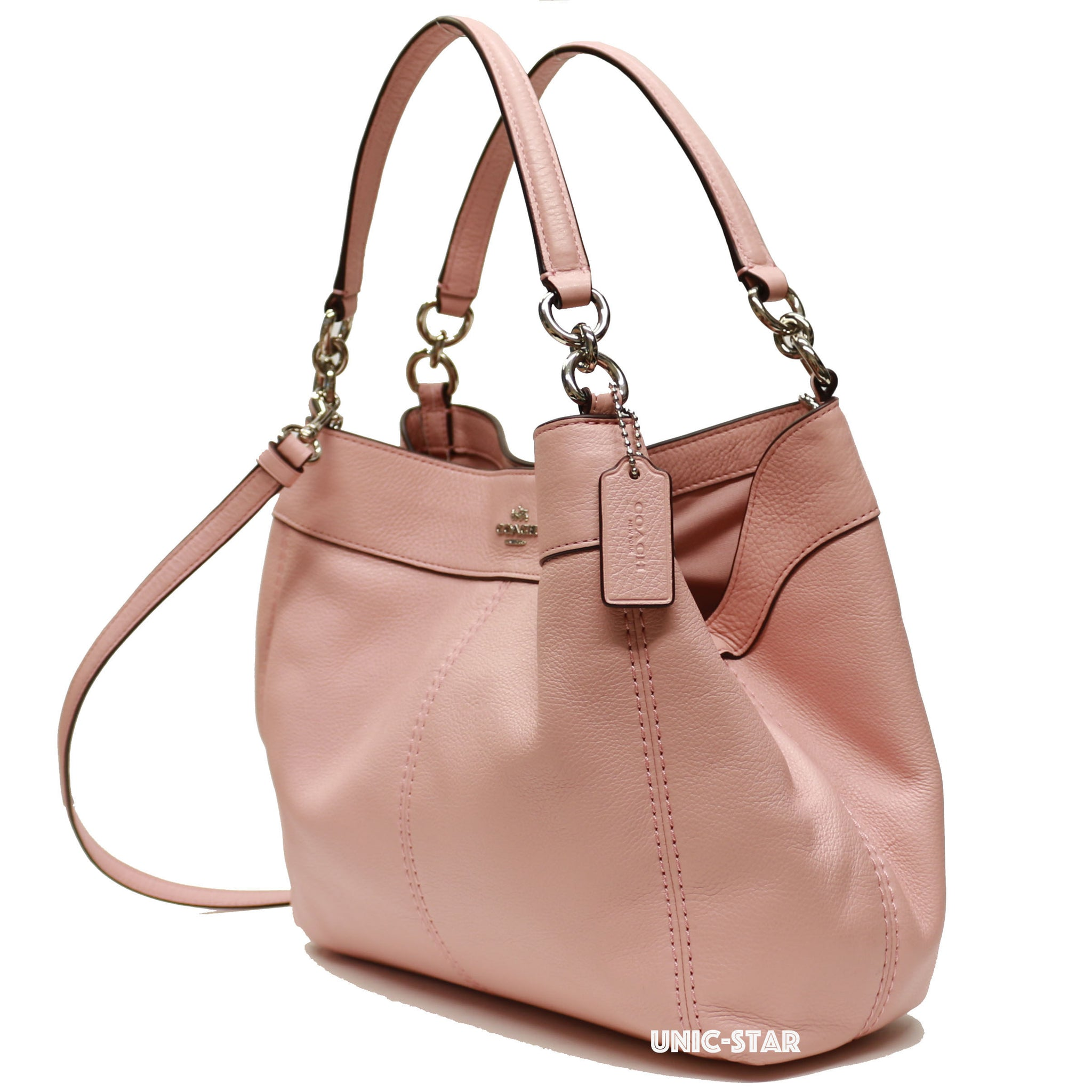 43bbba254e76 Coach F23537 Pebble Leather Small Lexy Shoulder Bag- Blush 2 – unic-star