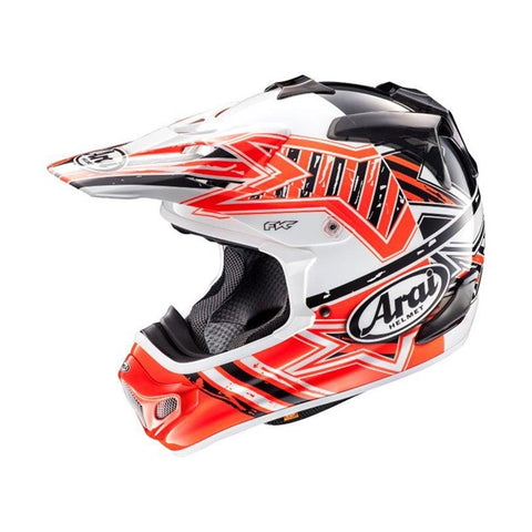 ARAI MX-V STAR ORANGE HELMET