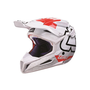 LEATT GPX 5.5 V15 WHITE/RED HELMET
