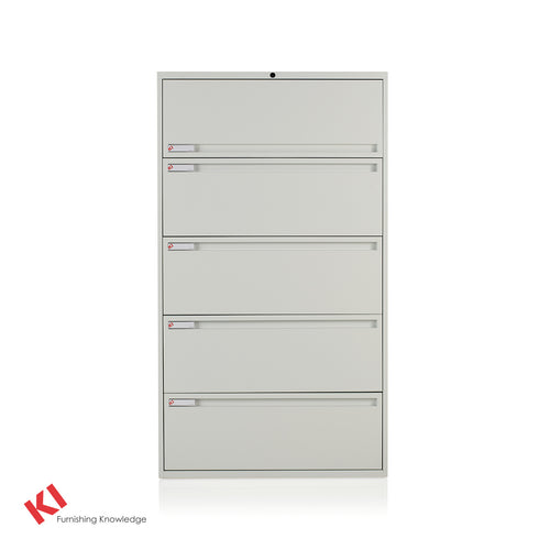 "700 Series Lateral File Cabinet - 5 Drawer - 36"" Wide - Flip up Top Drawer"