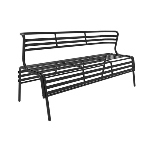 Cogo Indoor/Outdoor Steel Bench w/ Back