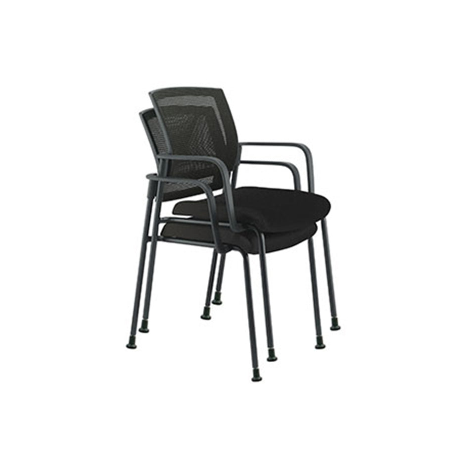 Dune Mesh Back Stacking Guest Chair With Arms
