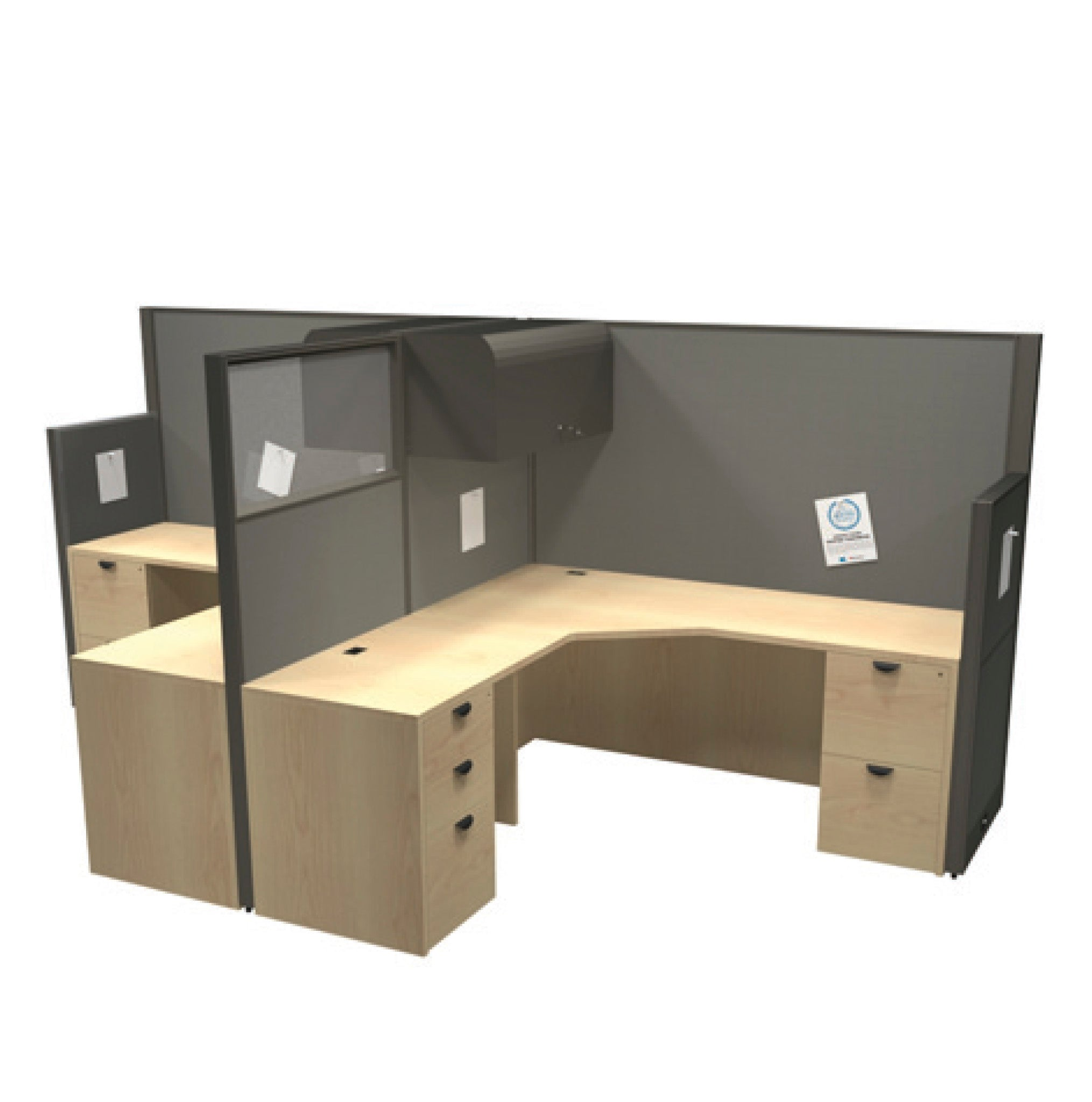 "Framework Double Workstation Pod - ""Layout 5"""
