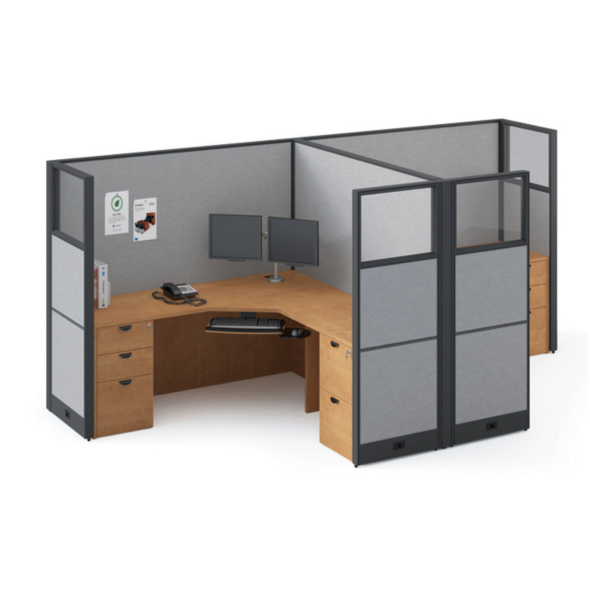 "Framework Double Workstation Pod - ""Layout 8"""