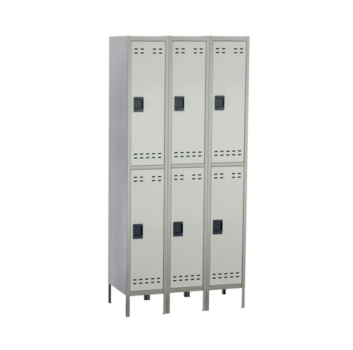 Double Tier Storage Lockers - 3 Column