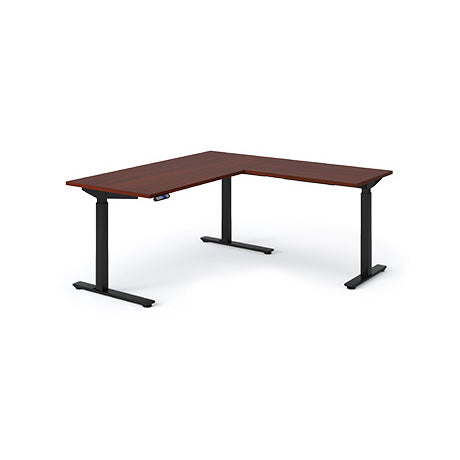 Olympus Height Adjustable L-Shaped Desk