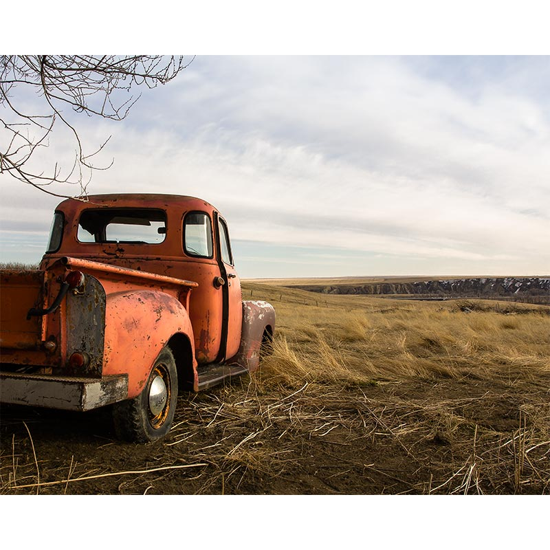 Old Red Truck Photography