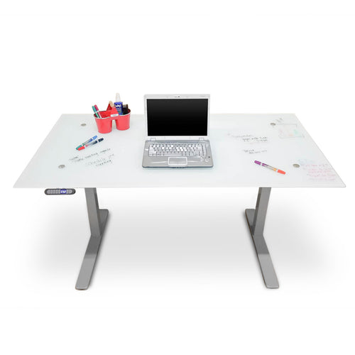 Height Adjustable Desk with Glass Marker board Top