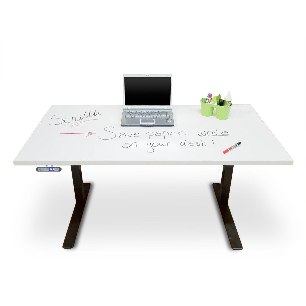 Height Adjustable Desk with Marker board Top