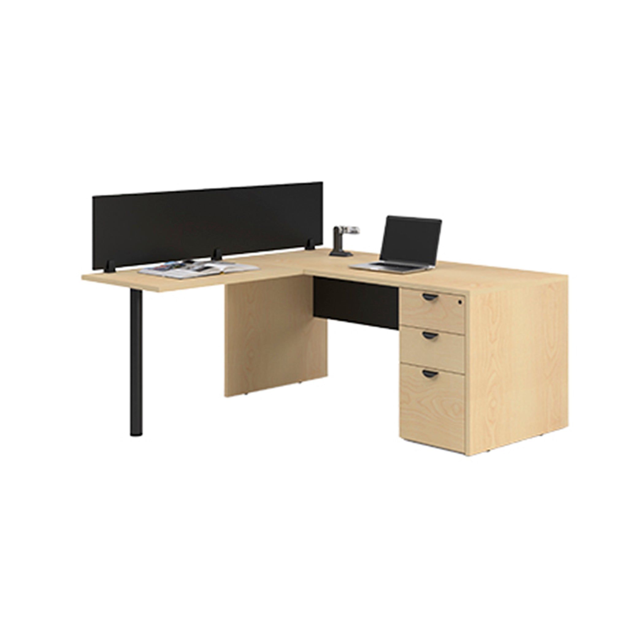 Laminate Desk Mounted Privacy Panel