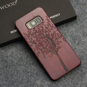 For Samsung Galaxy S8 S8 Plus Real Wood Back Case