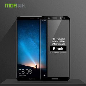 MOFi For Huawei Nova 2i /Mate 10 Lite Tempered Glass 3D Full Cover Screen Protector For Huawei Maimang 6 Protective Film Glass
