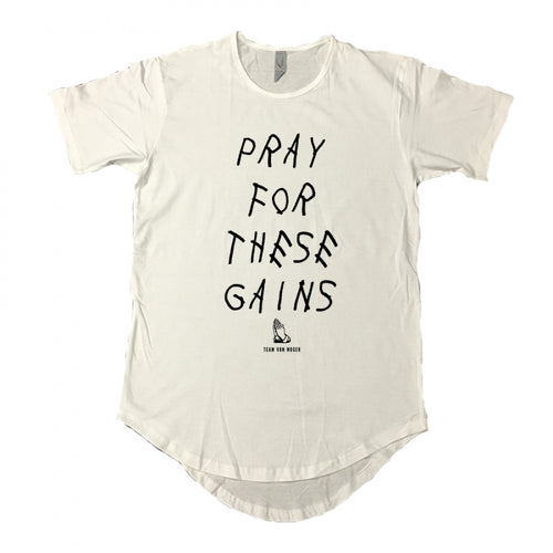 Pray For These Gains Scoop Tee