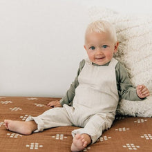 Load image into Gallery viewer, Oatmeal Linen Cotton Overalls