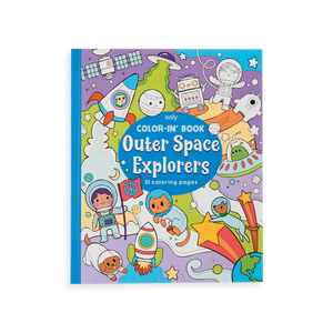Outer Space Explorers Coloring Book