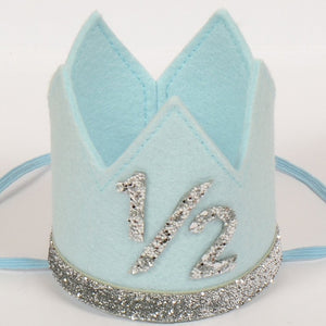 Birthday Crown | Blue & Silver | 1/2