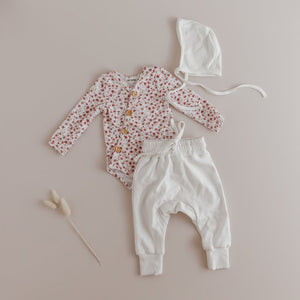 Posey Floral Bodysuit + Milk Harem Pants Set