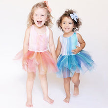 Load image into Gallery viewer, Watercolor Alba Teal Tutu Dress | B.A.E