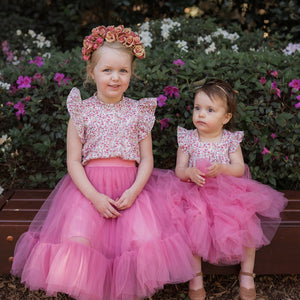 Romantic Ruffle Tutu Skirt | Vintage Rose
