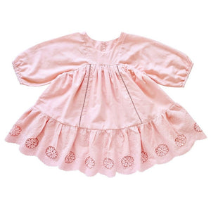 Broderie Anglaise Pink Dress