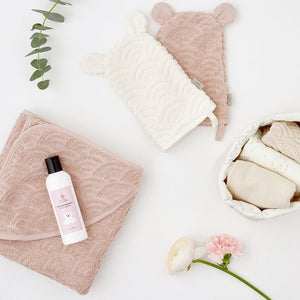 Hooded Baby Towel | Blossom Pink