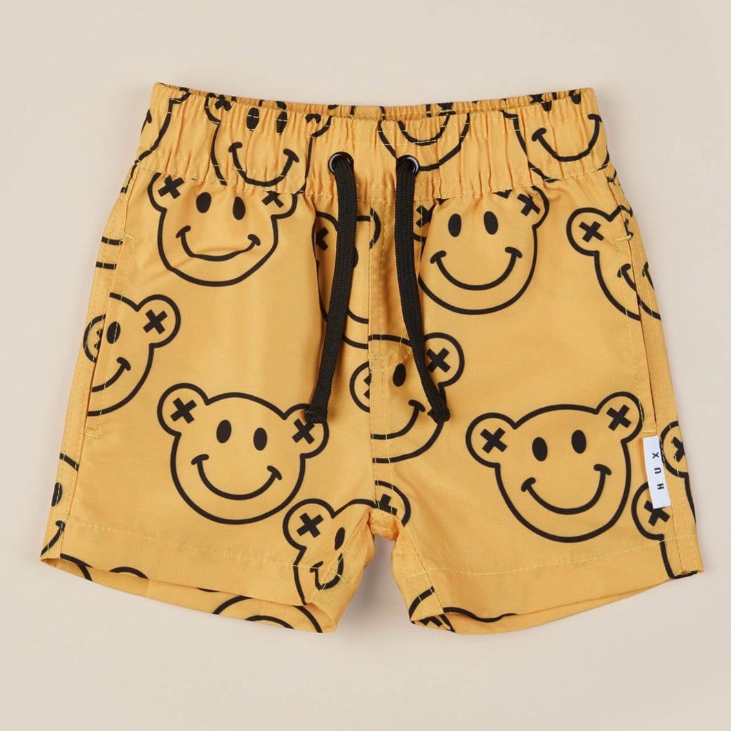 Smiley Swim Short | Saffron