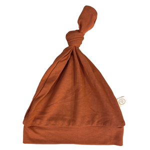 Bamboo Baby Top Knot Hat | Rust