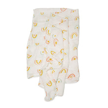 Load image into Gallery viewer, Muslin Swaddle | Pastel Rainbow