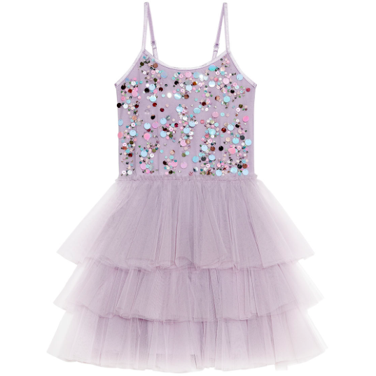 Popping Candy Tutu Dress- Elderberry