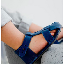 Load image into Gallery viewer, T-Strap Sandal- Navy