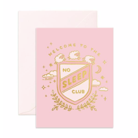 Greeting Card | No Sleep Club | Blush