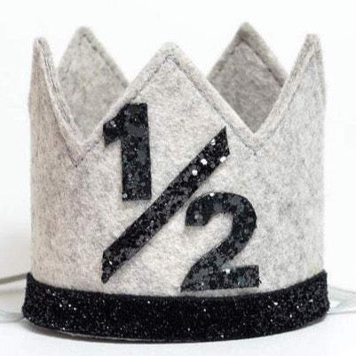 Birthday Crown | Gray & Black | 1/2