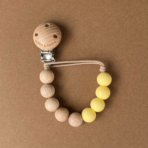 Pacifier Clip | Anna | Custard Yellow