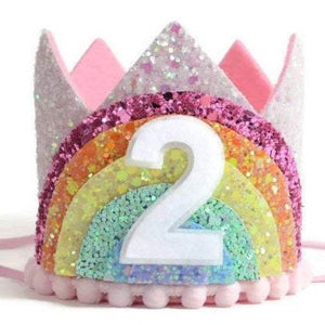 Birthday Crown | Pastel Rainbow | 2