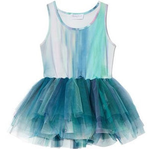 Watercolor Alba Teal Tutu Dress | B.A.E